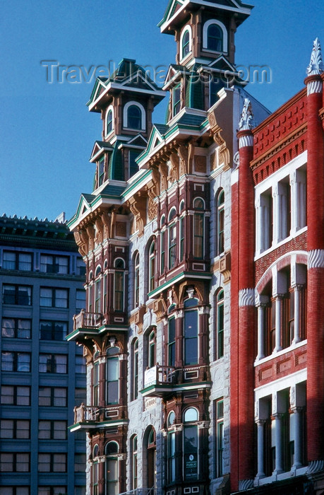 usa952: San Diego (California): historic building in downtown San Diego Gaslight District - photo by J.Fekete - (c) Travel-Images.com - Stock Photography agency - Image Bank