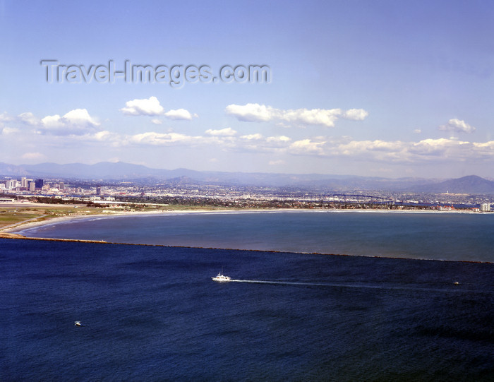 usa954: San Diego (California): view of the city from Point Loma, Coronado bridge, hotel del Coronado, downtown - photo by J.Fekete - (c) Travel-Images.com - Stock Photography agency - Image Bank