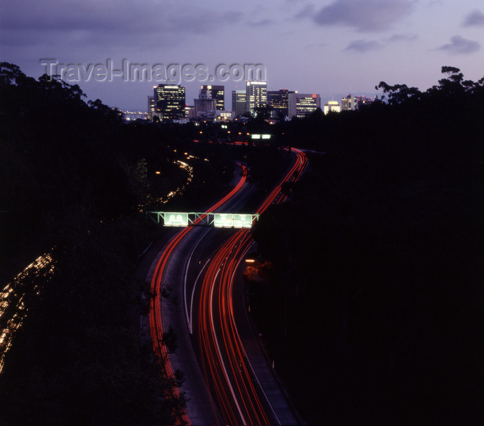 usa955: San Diego (California): view of Hwy 163 and downtown - nocturnal - photo by J.Fekete - (c) Travel-Images.com - Stock Photography agency - Image Bank