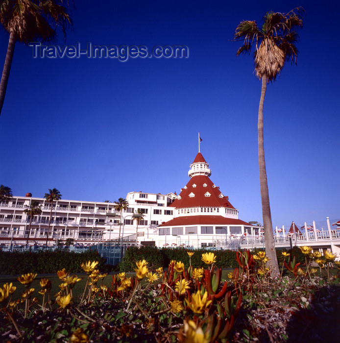 usa956: San Diego (California): Hotel del Coronado, site of many motion pictures - photo by J.Fekete - (c) Travel-Images.com - Stock Photography agency - Image Bank