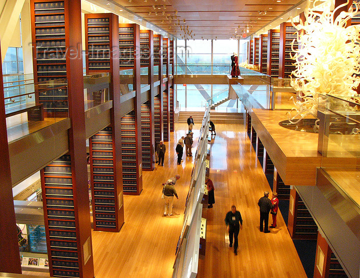 usa999: Little Rock (Arkansas): interior of the Clinton Library - William J Clinton Presidential Center and Park - architect James Polshek - photo by G.Frysinger - (c) Travel-Images.com - Stock Photography agency - Image Bank