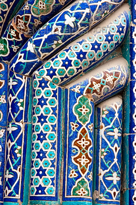 uzbekistan53: Mosaic tiles, Uleg Beg Madrassah, Bukhara, Uzbekistan - photo by A.Beaton  - (c) Travel-Images.com - Stock Photography agency - Image Bank