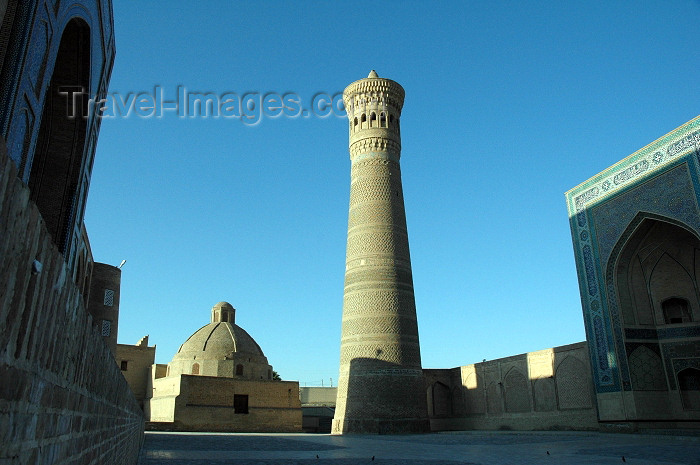 uzbekistan6: Bukhara, Uzbekistan: Poy Kalyan - the Kalyan minaret and the library - Unesco world heritage site - photo by J.Marian - (c) Travel-Images.com - Stock Photography agency - Image Bank