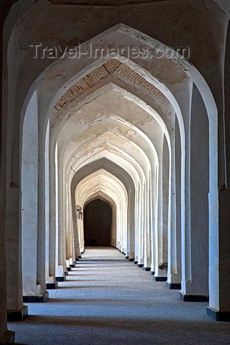 uzbekistan78: 'The Madrassah Hallway',  Hallway, Miri Arab Madrassah, Bukhara, Uzbekistan - photo by A.Beaton - (c) Travel-Images.com - Stock Photography agency - Image Bank