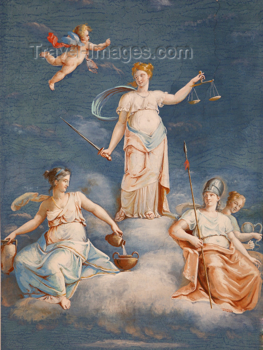 vatican27: Santa Sede - Vaticano - Roma - Vatican museum: ceiling - painting - photo by A.Dnieprowsky - (c) Travel-Images.com - Stock Photography agency - Image Bank