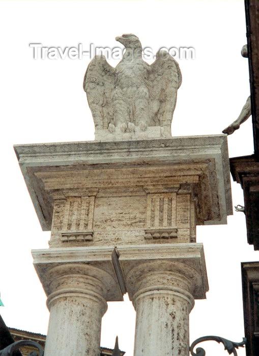 vatican3: Santa Sede - Vaticano - Roma - Imperial Eagle on Via di Porta Angelica (photo by Miguel Torres) - (c) Travel-Images.com - Stock Photography agency - Image Bank