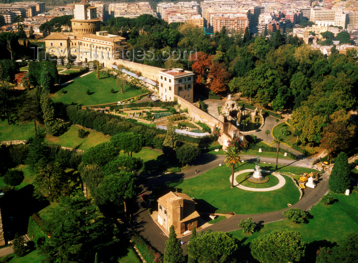 vatican42: Vatican: Vatican Gardens and Vatican Radio Administration building - Giardini Vaticani - photo by J.Fekete - (c) Travel-Images.com - Stock Photography agency - Image Bank