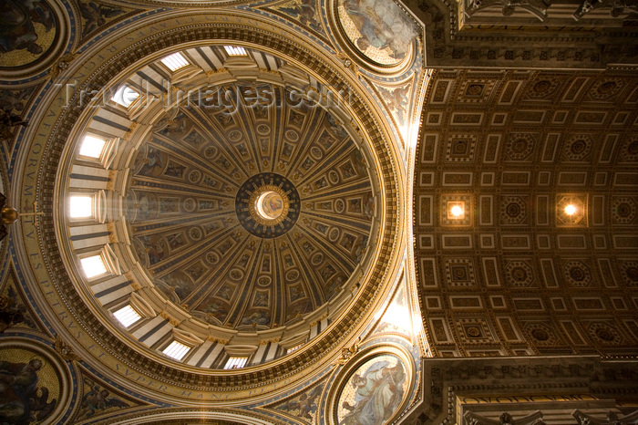 vatican59: Vatican City, Rome - inside Saint Peters Basilica - dome by  Giacomo della Porta and Fontana - photo by I.Middleton - (c) Travel-Images.com - Stock Photography agency - Image Bank