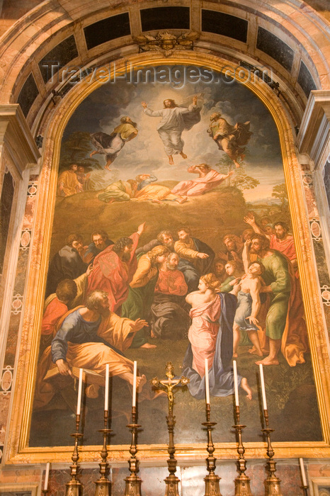 vatican61: Vatican City, Rome - painting - iterior of Saint Peter's Basilica - photo by I.Middleton - (c) Travel-Images.com - Stock Photography agency - Image Bank