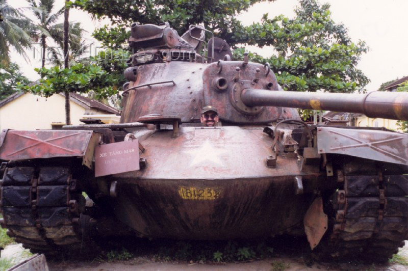 vietnam43: Vietnam - Hue / HUI: souvenir of an american defeat - M48 tank - photo by N.Cabana - (c) Travel-Images.com - Stock Photography agency - Image Bank
