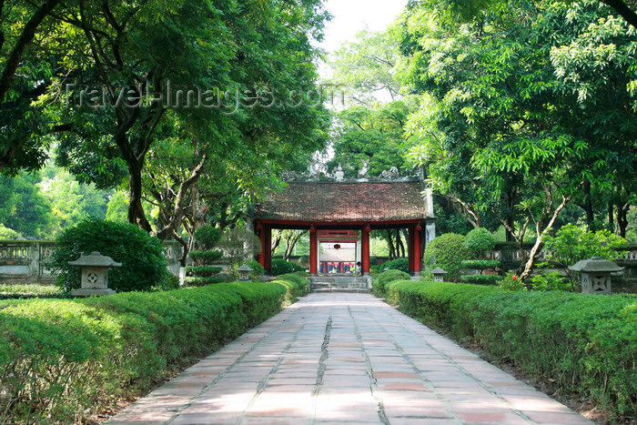 vietnam58: Hanoi - Vietnam - Literature Temple - Confucian temple in the Dong Da section - photo by Tran Thai - (c) Travel-Images.com - Stock Photography agency - Image Bank