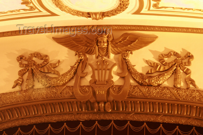 vietnam93: Hanoi - Vietnam - Hanoi Opera House - construction started in 1901 and was completed in 1911 - gilded decoration - photo by Tran Thai - (c) Travel-Images.com - Stock Photography agency - Image Bank