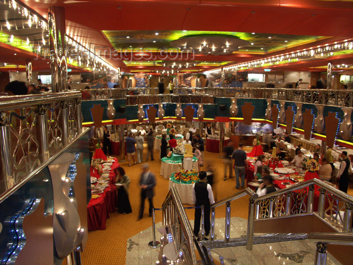 virgin-us63: USVI - St. Thomas - cruise liner Costa Magica - elegant dining room - photo by G.Friedman - (c) Travel-Images.com - Stock Photography agency - Image Bank