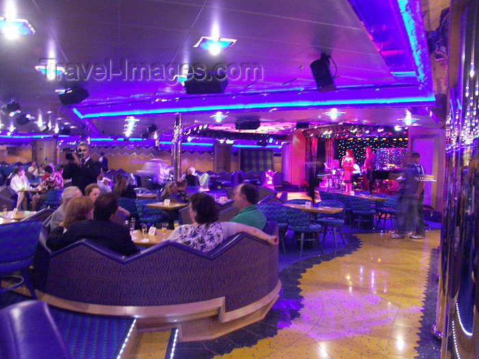 virgin-us71: USVI - St. Thomas - purple lounge - Costa Magica luxury ocean liner - photo by G.Friedman - (c) Travel-Images.com - Stock Photography agency - Image Bank