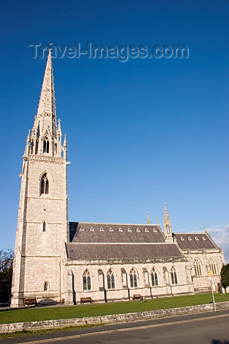 wales63: Bodelwyddan, Rhyl, Denbighshire / Sir Ddinbych, Wales, UK: parish church of St. Margaret, also known as the marble church - Victorian Gothic church designed by John Gibson - Rhuddlan Road - photo by I.Middleton - (c) Travel-Images.com - Stock Photography agency - Image Bank