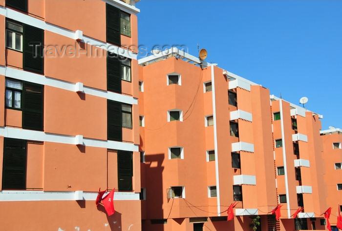 western-sahara17: Laâyoune / El Aaiun, Saguia el-Hamra, Western Sahara: Spanish period apartment blocks on Blvd Mohammed V - photo by M.Torres - (c) Travel-Images.com - Stock Photography agency - Image Bank