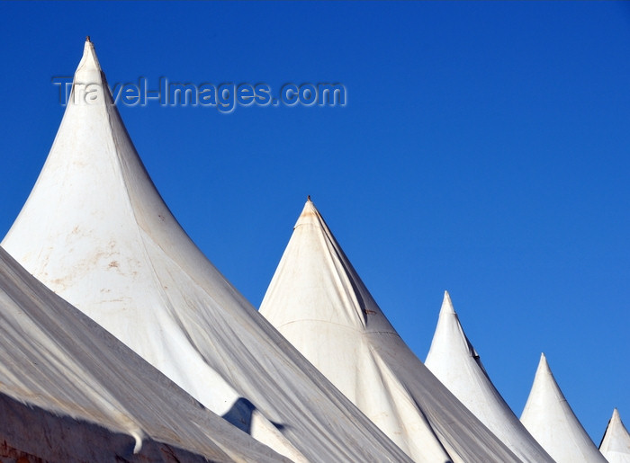 western-sahara33: Laâyoune / El Aaiun, Saguia el-Hamra, Western Sahara: tents used for an exhibition - Place Oum Saad - photo by M.Torres - (c) Travel-Images.com - Stock Photography agency - Image Bank