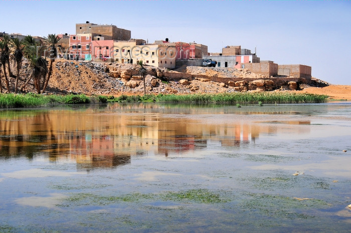western-sahara53: Laâyoune / El Aaiun, Saguia el-Hamra, Western Sahara: houses reflected on the Oued Saqui el-Hamra - photo by M.Torres - (c) Travel-Images.com - Stock Photography agency - Image Bank