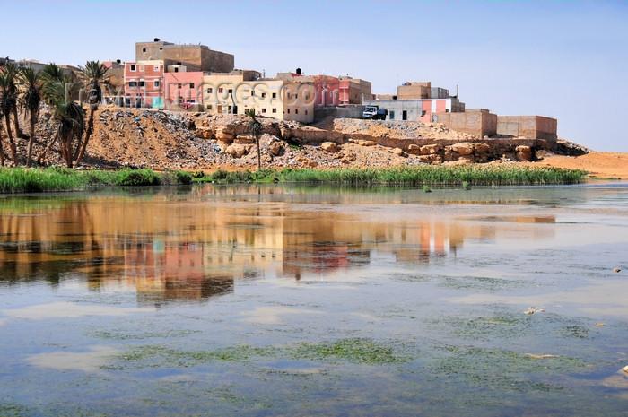 western-sahara53: Laâyoune / El Aaiun, Saguia el-Hamra, Western Sahara: houses reflected on the Oued Saqui el-Hamra - photo by M.Torres - (c) Travel-Images.com - Stock Photography agency - Image Bank