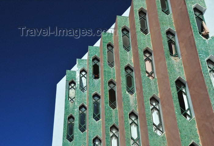 western-sahara55: Laâyoune / El Aaiun, Saguia el-Hamra, Western Sahara: modern façade of an office building - Boulevard de Mekka - photo by M.Torres - (c) Travel-Images.com - Stock Photography agency - Image Bank
