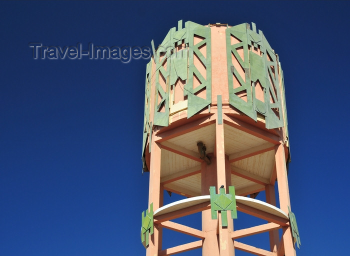 western-sahara59: Laâyoune / El Aaiun, Saguia el-Hamra, Western Sahara: Spanish water tower with Moroccan decoration - Blvd de Mekka - photo by M.Torres - (c) Travel-Images.com - Stock Photography agency - Image Bank