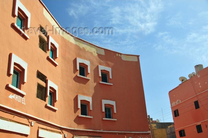 western-sahara82: Laâyoune / El Aaiun, Saguia el-Hamra, Western Sahara: Hotel Rif - Blvd 28 Février - Colonial district - photo by M.Torres - (c) Travel-Images.com - Stock Photography agency - Image Bank