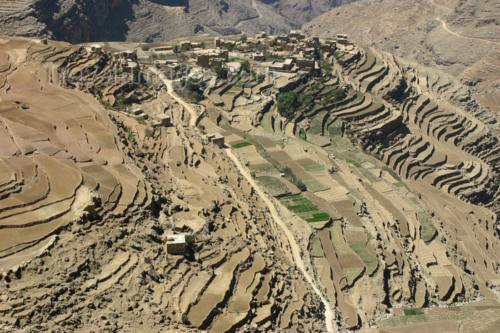 yemen28: Yemen - Haraz mountains - Al-Mahwit Governorate - landscape with terraces - photo by E.Andersen - (c) Travel-Images.com - Stock Photography agency - Image Bank
