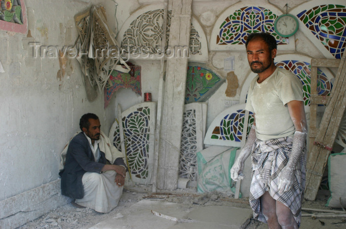 yemen35: Yemen - Maker of stained glass windows - photo by E.Andersen - (c) Travel-Images.com - Stock Photography agency - Image Bank