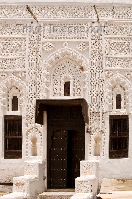yemen97: Zabid, Al Hudaydah governorate, Yemen: ornate decoration on house - photo by J.Pemberton - (c) Travel-Images.com - Stock Photography agency - Image Bank
