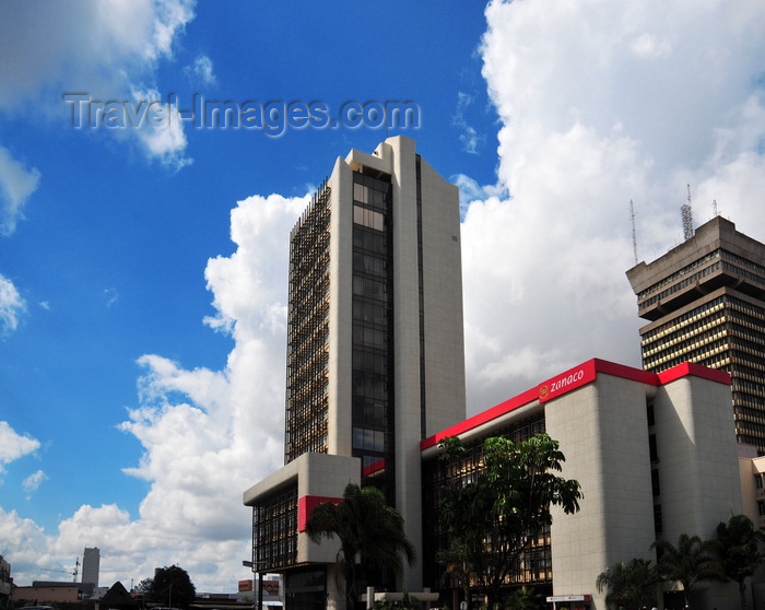 zambia23: Lusaka, Zambia: Zanaco house - Zambia National Commercial Bank - Cairo Road at Chainda Place - Central Business District - photo by M.Torres - (c) Travel-Images.com - Stock Photography agency - Image Bank