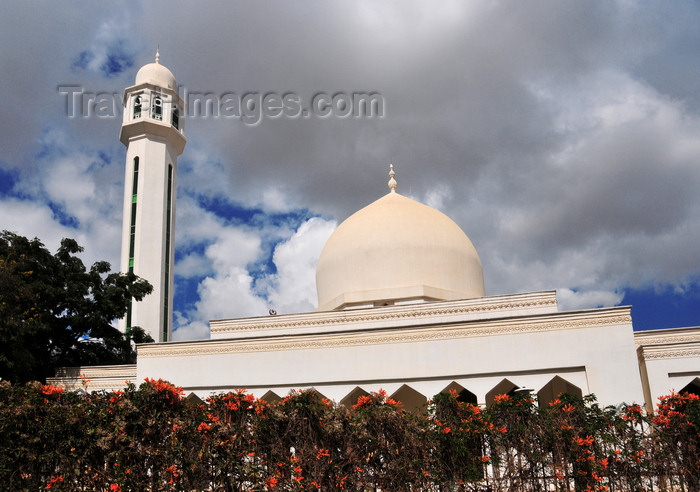 zambia29: Lusaka, Zambia: Omar mosque - white mosque on Independence Avenue, Chakwa Road - Masjid e Umar Al Farook - the foundation stone was laid by Moulana Qari Siddiq Bandwi saheb - photo by M.Torres - (c) Travel-Images.com - Stock Photography agency - Image Bank
