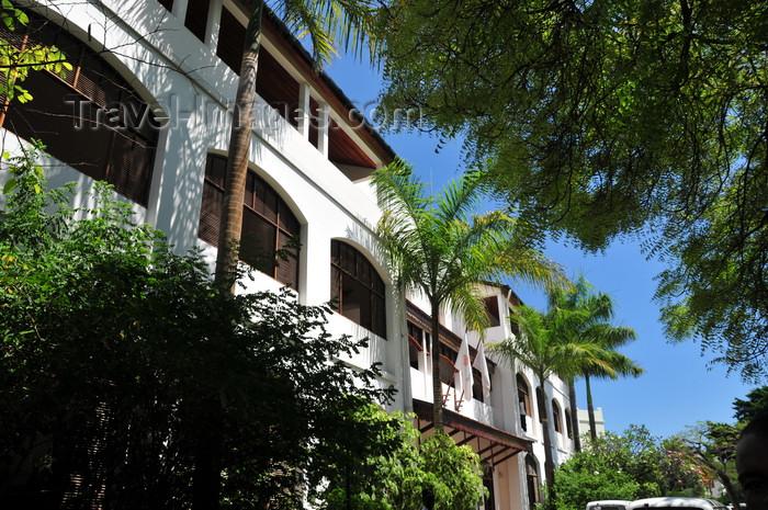 zanzibar103: Stone Town, Zanzibar, Tanzania: Zanzibar Serena Inn from Kelele square - luxury hotel, formerly the Cable and Wireless building - Shangani - photo by M.Torres - (c) Travel-Images.com - Stock Photography agency - Image Bank