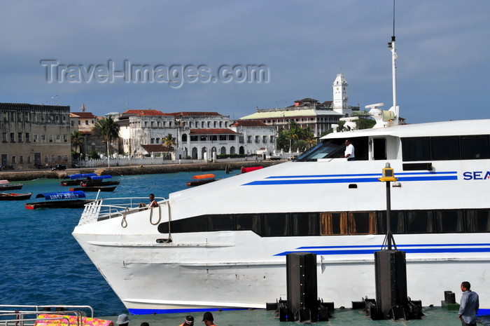 zanzibar119: Stone Town, Zanzibar, Tanzania: ferry terminal - Seabus II arrives from Tanganyika - photo by M.Torres - (c) Travel-Images.com - Stock Photography agency - Image Bank