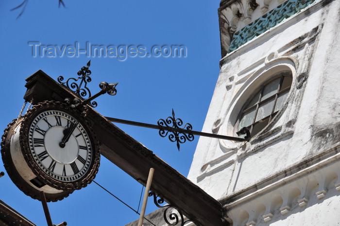 zanzibar162: Stone Town, Zanzibar, Tanzania: hanging clock of the Old High Court - Mahakama Kuu - Vuga area - photo by M.Torres - (c) Travel-Images.com - Stock Photography agency - Image Bank