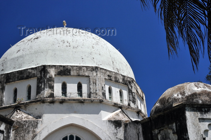 zanzibar167: Stone Town, Zanzibar, Tanzania: Peace Memorial Museum - dome - designed by British architect J.H. Sinclair - Beit Al-Amani - Benjamin Mkapa road - Vuga area - photo by M.Torres - (c) Travel-Images.com - Stock Photography agency - Image Bank