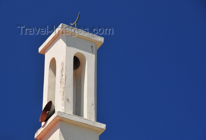 zanzibar95: Stone Town, Zanzibar, Tanzania: minaret detail - mosque in Shangani street - photo by M.Torres - (c) Travel-Images.com - Stock Photography agency - Image Bank