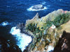 Pitcairn island: the coast - rocks over the Southern Pacific Ocean - photo by NOAA (P.D.)