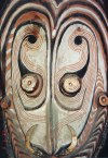 Papua New Guinea - Port Moresby: face - Papuan art (photo by G.Frysinger)