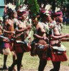 Papua New Guinea - Kaibola island - Trobriand Islands: women dancing (photo by G.Frysinger)