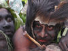 PNG - Papua New Guinea - Male performers close-up, Ali Island (photo by B.Cain)