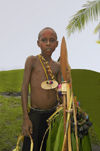 PNG - Papua New Guinea - Young boy posing with spear, Murick lakes (photo by B.Cain)