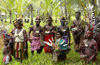PNG - Papua New Guinea - Group portrait of villagers, Murick Lakes (photo by B.Cain)