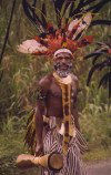 Papua New Guinea - Highlands: warrior cum musician (photo by G.Frysinger)