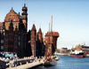 Gdansk / Danzig (Pomorskie / Pomerania): buildings by the old harbour - photo by G.Frysinger