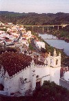 Mertola: the town and the river from the castle - a vila e o Guadiana vistos do castelo - primeiro plano: a Igreja Matriz, antiga Mesquita - photo by M.Durruti