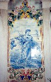 Portugal - Coimbra: peasant woman - tiles at a bakery / Coimbra: mulher camponesa - azulejos na Padaria Popular - photo by M.Durruti