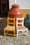 Portugal - Alentejo - �voramonte / �vora Monte: painted children's chairs - cadeirinhas de b�b� - photo by M.Durruti