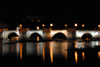 Tavira - Algarve - Portugal - Roman bridge over the river Gilão - nocturnal / ponte romana de Tavira sobre o rio Gilão - noite - photo by M.Durruti