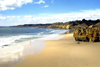 Portugal - Algarve - Balaia (concelho de Albufeira): deserted beach - praia deserta - photo by T.Purbrook