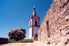 Portugal - Pinhel: torre do relógio and stone wall / clock tower - photo by M.Durruti
